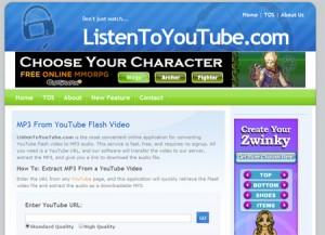 Descargar musica de Youtube con ListenYouTube