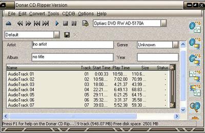 Pasar canciones de CD a MP3 con Donar CD Ripper
